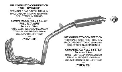 Arrow Competition Full System Exhaust Honda Cbr600rr 2005