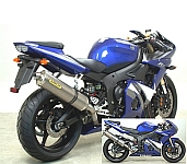 Arrow competition full system exhaust yamaha r6 2005 for Best exhaust system for yamaha r6